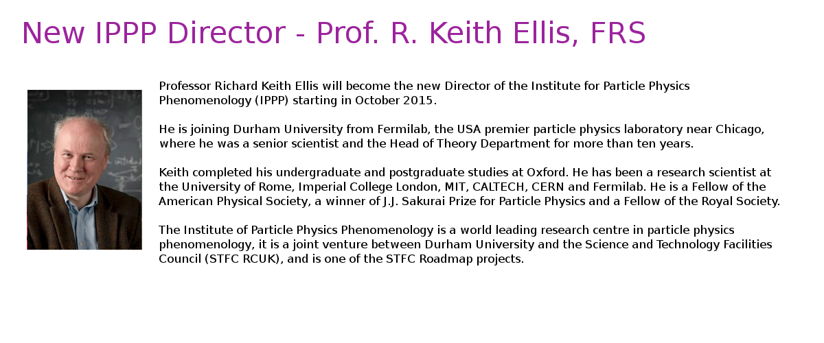 Keith Ellis - New director of IPPP