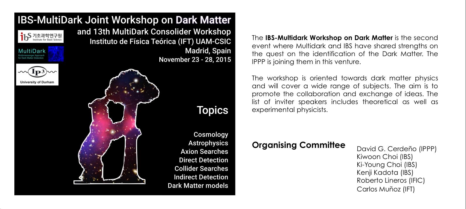 2nd IBS-MultiDark Workshop