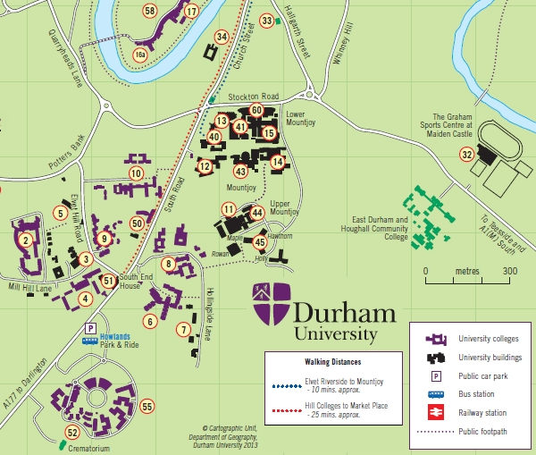 Durham University Map